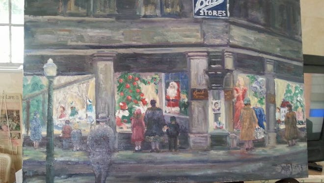 """Christmas at Ball Stores-1948"" by Susie Burns"