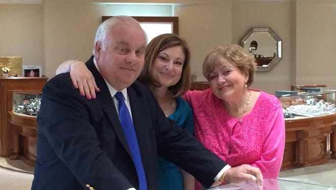 Roman Jewelers founders Roman and Sophie Shor are pictured with their daughter and general manger, Lucy Zimmerman. The Shors plan to expand their Bridgewater location by nearly 1,700 square feet to consolidate it with a Flemington location that will close May 27.