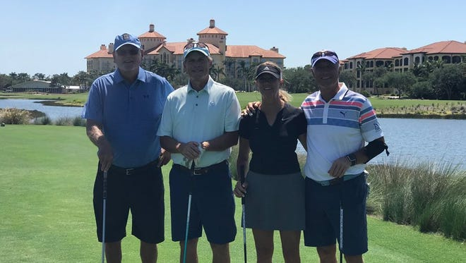 The team of Robert Sellars, Edward McFarland, Sandy Strawn, and John Sabo won The First Tee of Naples/Collier Fundraiser Tournament at Tiburón Golf Club at the Ritz-Carlton Golf Resort on Saturday, April 14, 2018.. They shot a 115. They received $45 per player and all donated it back to The First Tee of Naples/Collier.