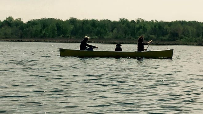 Canoeing at Collins Marsh.