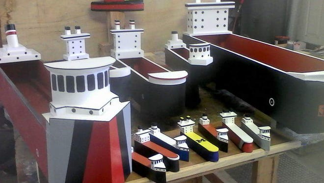 Freighter planters made by Great Lakes Crafts will be among the items featured at Blackbird Home Goods.