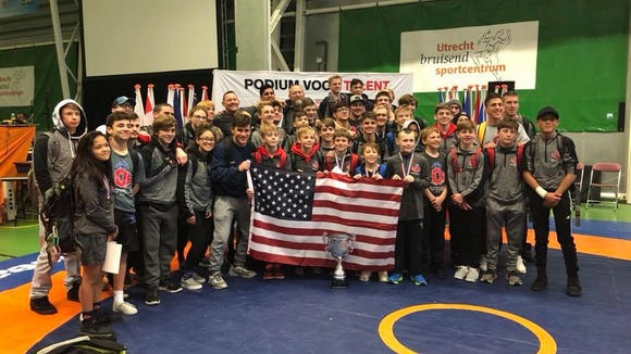 The Legends of Gold wrestling club became the first