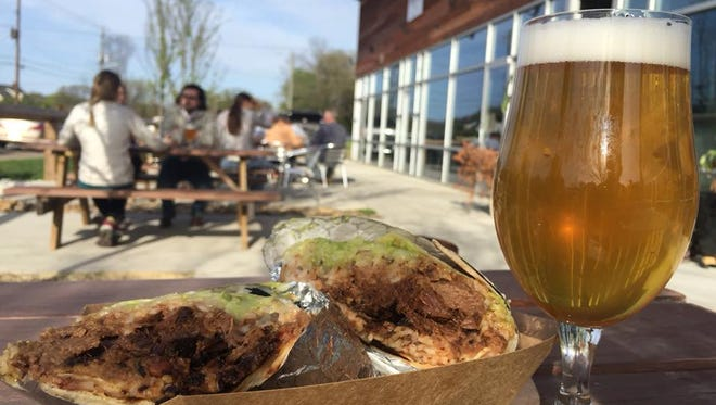 Beer and a food truck meal by Burrito are best enjoyed on a South Knoxville patio.