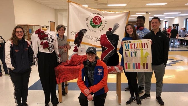 Six Millville High School students were selected to perform with the Cavalcade of Bands Honors Band in the 2019 Rose Bowl Parade in Pasadena, Calif.
