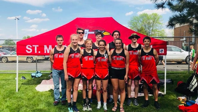 The St. Mary Cardinals track and field team qualified 10 runners and throwers for this week's state meet in Rapid City.