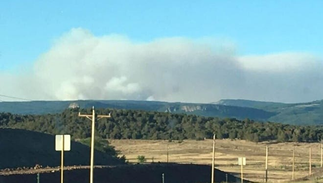The Burro Fire has grown to nearly 3,000 acres. This photo was taken June 8 from mile marker 53 on Highway 160 by a U.S. Forest Service employee when the fire was estimated at just 300 acres.