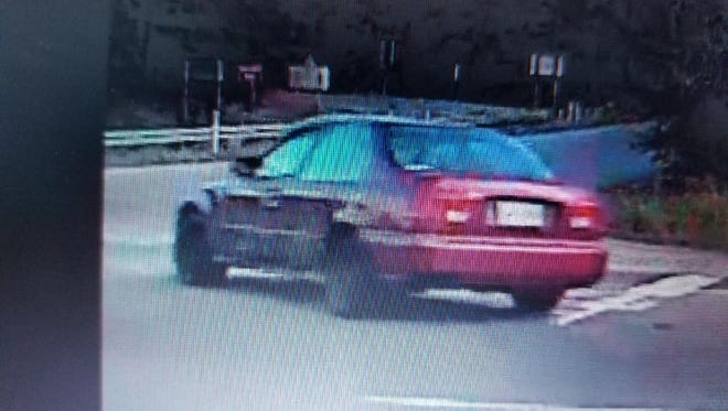 Fairview Police Department is looking for the driver who rammed into a police officer's car Sunday evening.