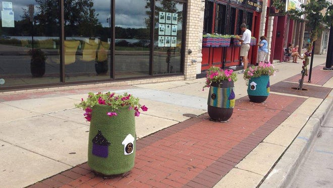 To promote its annual gala, the Lake Area Free Clinic decorates downtown Oconomowoc with yarn starting Friday, Aug. 10.
