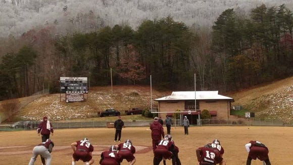 Swain County players practice Thursday in Bryson City.