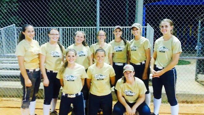 The WNC Extreme Gold softball team.