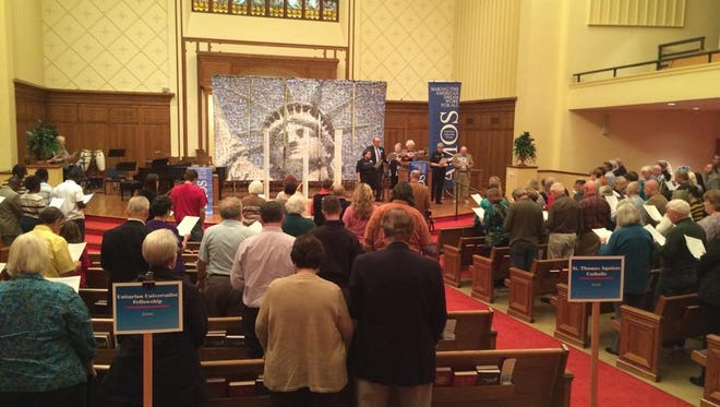 A Mid-Iowa Organizing Strategy held its Fall Issues Summit and Project IOWA graduation event at First Christian Church, 2500 University Ave. in Des Moines, Monday night. About 130 people were in attendance, including several local elected officials.