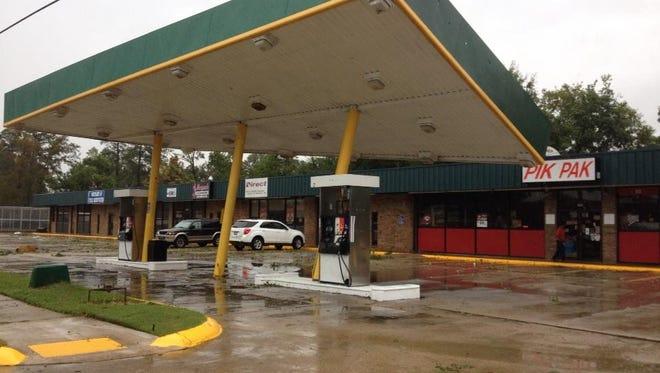 Storm damage near West Monroe High School