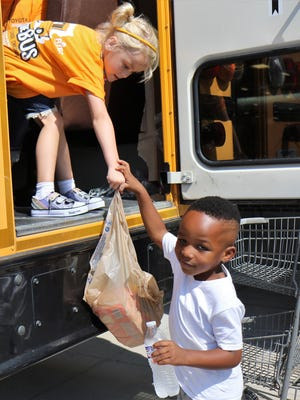 The 7th Annual Pack the Bus event was held by RIFA at five locations across Jackson on Saturday, August 18, 2018.  Volunteers assisted shoppers in loading nonperishable food items into the Jackson-Madison County school buses located at the Walmart North, Walmart South, Kroger University Parkway, Kroger Lynnwood, and Food Giant Christmasville.  The event is held each year to help feed hungry school children over the weekends.