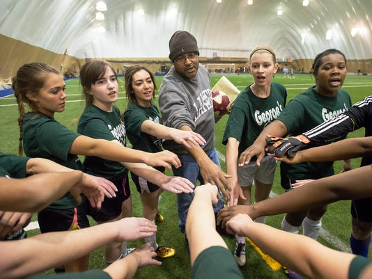 Terry Foster coaching soccer