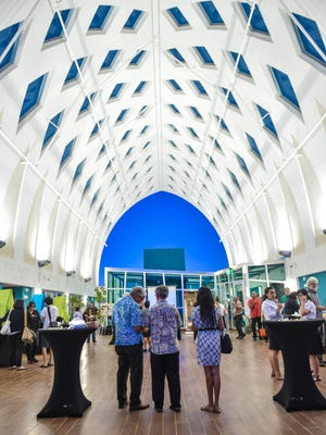 """A book launch of """"A Year on the Island of Guam, 1899-1900,"""" was held at the Guam Museum in Hagåtña on Nov. 9, 2016."""
