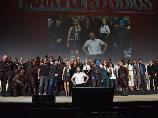 The casts and filmmakers from Marvel Studios attend the San Diego Comic-Con International 2016 Marvel Panel in Hall H on July 23, 2016 in San Diego, California.