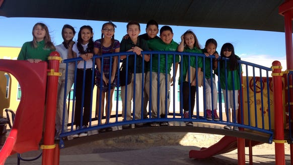 Students in the Chester E. Jordan Elementary Green