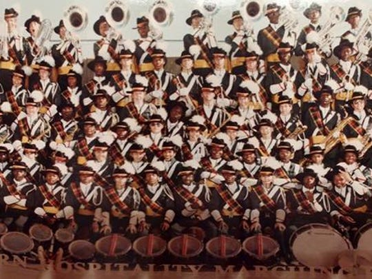 The Jackson Central-Merry Marching Band of 1984 poses