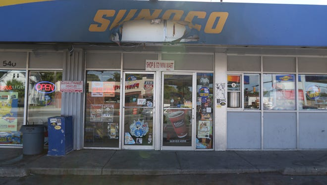 A Greece man suffered burns after a car fire at a Sunoco station on Portland Avenue early Wednesday.