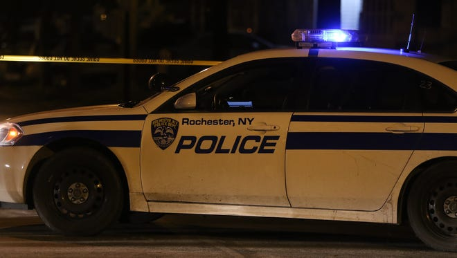 File photo of Rochester police car at night.