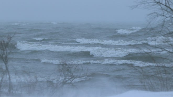 Wind whips the waves on Lake Ontario.