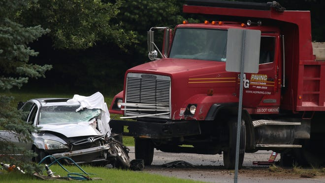 Both vehicles were travelling in opposite directions on Boughton Hill Road before the crash.