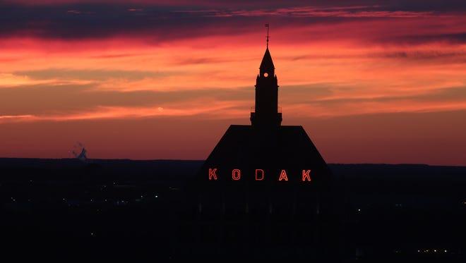 Kodak headquarters at sunset.