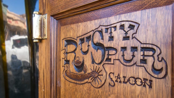 Old-style saloon doors greet patrons to the Rusty Spur Saloon in Old Town Scottsdale.