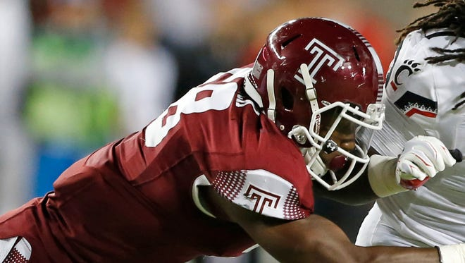 LB Haason Reddick, Temple – No player has shot up draft boards more than Reddick this spring. He projects as a stand-up linebacker after playing defensive end in college, but still could help as a pass rusher in sub packages.