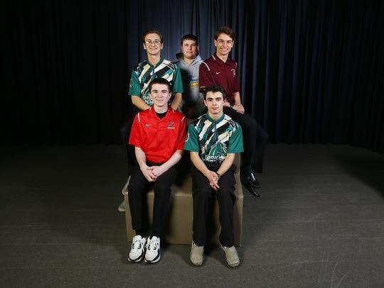2018 All-Shore boys bowling. Front row: Joe Ocello,