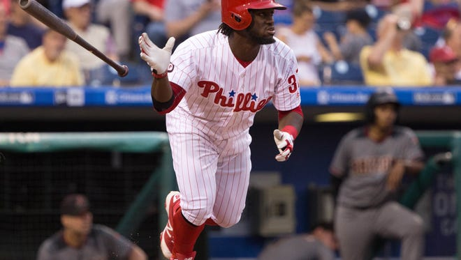 Phillies center fielder Odubel Herrera is second in the National League in batting at .346 so far this season.