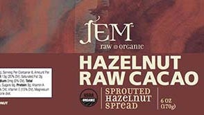 JEM Raw Chocolates is recalling some products.