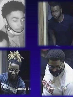 Greenville County, S.C., authorities seek the men shown in these images in connection with the shootings at a Greenville nightclub. Cooper, upper left, has been apprehended.