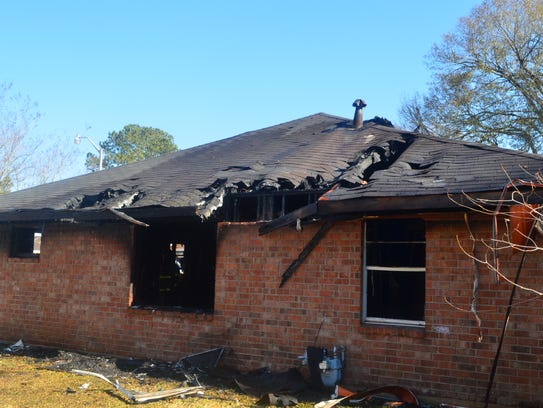 A January house fire caused heavy damage to a home