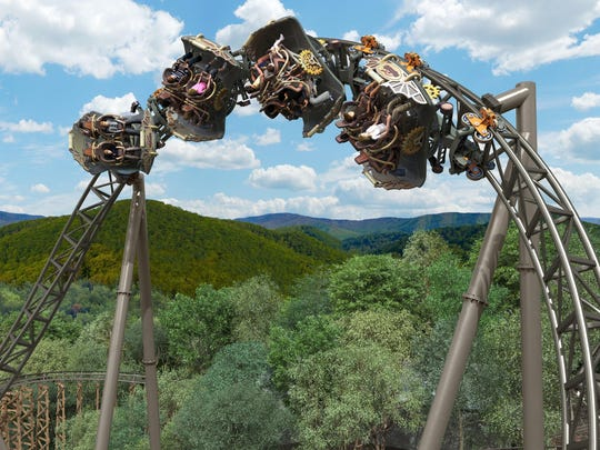 Silver Dollar City opens its 2018 season March 14. Its newest ride, a steel spinning roller coaster called Time Traveler, is expected to open in March.