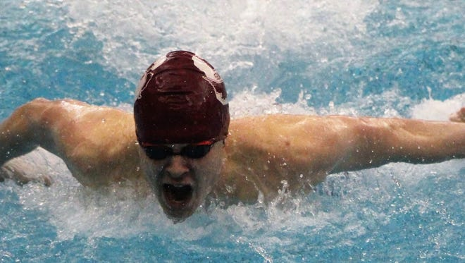 Seaholm senior Michael Arpasi was one of three swimmers who shared 'Swimmer of the Meet' honors at Friday's OAA Red Division championships.