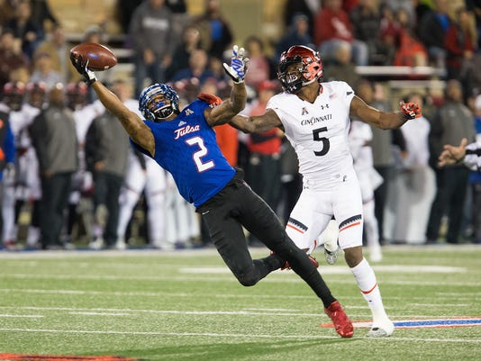 NCAA Football: Cincinnati at Tulsa