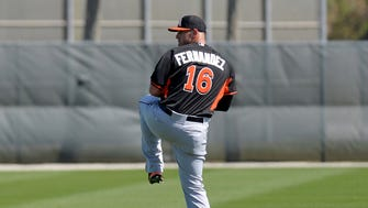 Marlins ace Jose Fernandez hopes to be back by mid-season.
