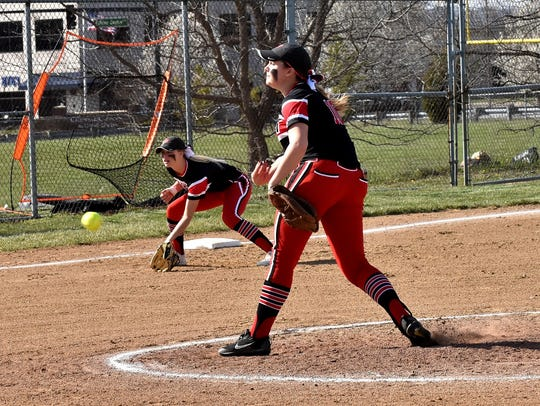 Stephanie Maldonado fires off a strike for the Firebirds,