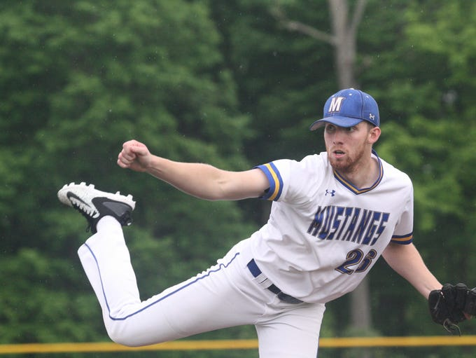 Madeira senior Sam Wirsing pitches in a sectional final