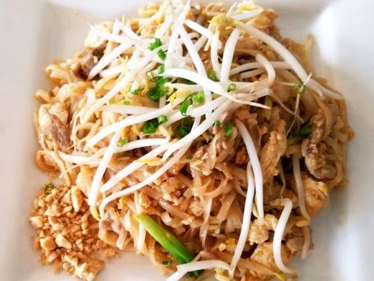 Bangkok Bay's Pad Thai had rice noodles and a two-meat