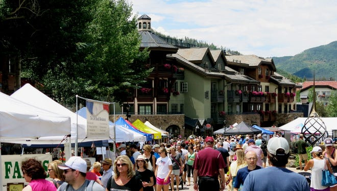 Vail  Farmers' Market & Art Show winds around the picturesque town Sundays through Oct. 2.