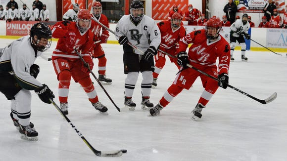 Brewster/Yorktown forward Colin Dineen has lots of