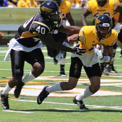 Southern Miss linebacker C.J. Perry (40) has emerged