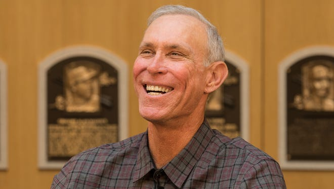 Former Tigers shortstop and future Hall of Fame inductee Alan Trammell visited the Hall of Fame on Thursday, March 15, 2018.