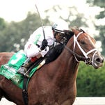 CARPE DIEM The Claiborne Breeders' Futurity Gr I - 101st Running Keenland Race Course   Lexington, Kentucky October 4, 2014 Purse $500,000 1-1/16 Miles  1:43.38 WinStar Farm, LLC & Stonestreet Stables, LLC, Owners Todd A. Pletcher, Trainer John Velazquez, Jockey Mr. Z (2nd) Bold Conquest (3rd) $6.80  $5.00  $4.00 Please Give Photo Credit To:  / Coady Photography