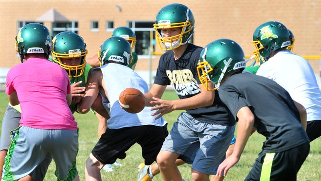 Edgar football team at a recent preseason practice.