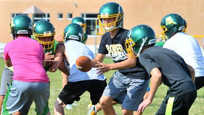 Edgar football team at a recent preseason practice.