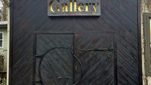 The doors of Kaviar Gallery's new space.