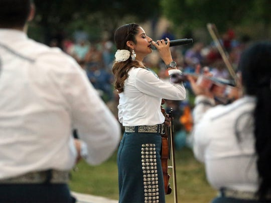 Mariachi Alegre performs at the popular Noche Ranchera, part of the Music Under the Stars summer concert series, at the Chamizal National Memorial.